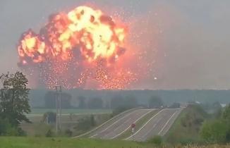 Havai Fişek Fabrikası'ndaki patlama anı!