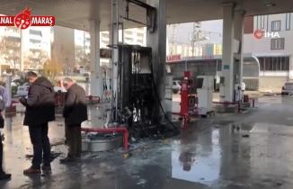 Kahramanmaraş'ta akaryakıt istasyonunda yangın! Facianın eşiğinden dönüldü