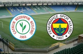 Çaykur Rizespor Fenerbahçe CANLI İZLE şifresiz, FB maçı canlı yayın
