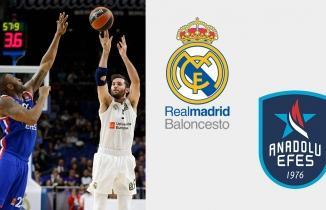Real Madrid - Anadolu Efes maçı (CANLI İZLE)