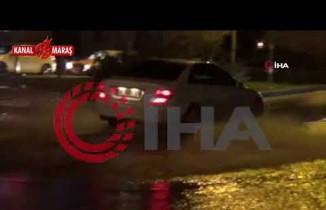 Sağanak yağmur Kahramanmaraş'ı esir aldı