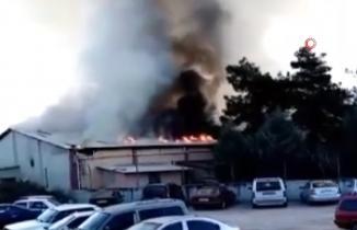 Kahramanmaraş'ta tekstil fabrikasındaki yangın, 10 dakikada söndürüldü