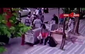 Sultangazi'de temizlik işçisine baltalı saldırı! O anlar kameralarda....