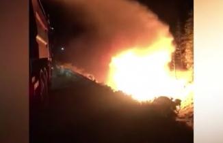 Kahramanmaraş'ta tanker alev topuna döndü: 1 ölü