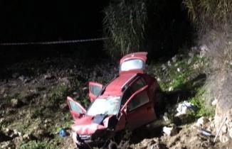 Manisa'da Korkunç kaza! Otomobil 10 metre yükseklikten düştü...