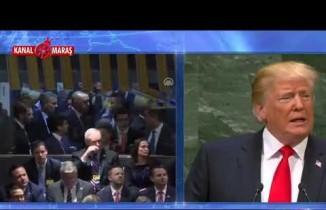 Trump konuşurken Erdoğan salonu terk etti!