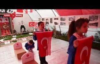Türkoğlu'nda 18 Mart Çanakkale zaferi anısına resim sergisi düzenlendi