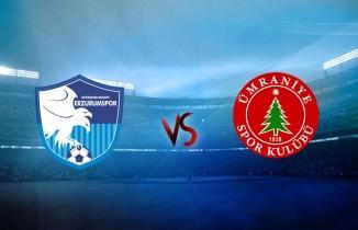 BB Erzurumspor Ümraniyespor maçı canlı izle!