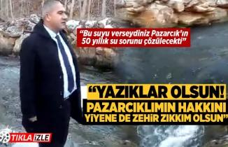 CHP'li Büyükşehir Meclis Üyesi Kaykı: Bu suyu verseydiniz Pazarcık'ın 50 yıllık su sorunu çözülecekti