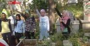 Ülkü Ocakları Kadın Birimi Üyeleri Mezarlık Ziyaretinde Bulundular